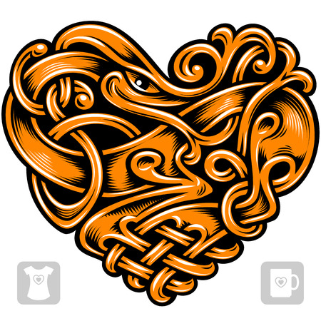 celtic pattern: Vector celtic pattern in the shape of heart