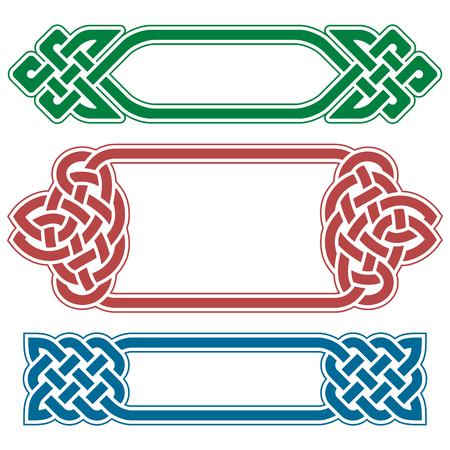 nudos: Vector celta Conjunto de cuadros aislados sobre fondo blanco