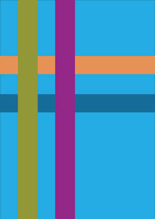 Abstract graphic background of multicolored lines and rectangles.