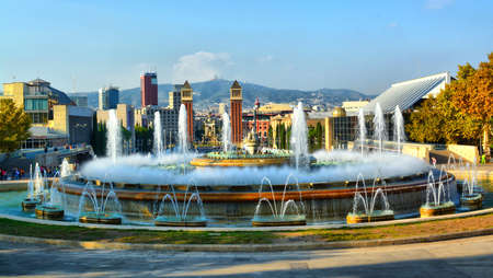 Barcelona Fountain Spain   20 May 2014