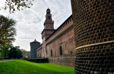 Castle in Milano Italy  22 June 2014