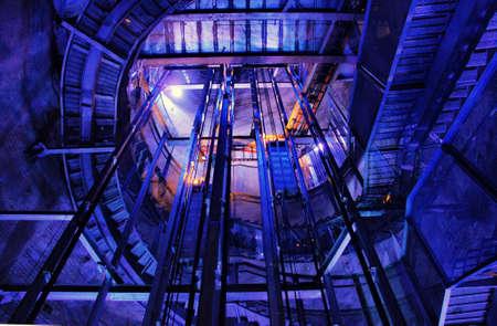 Underground Blue Tunel