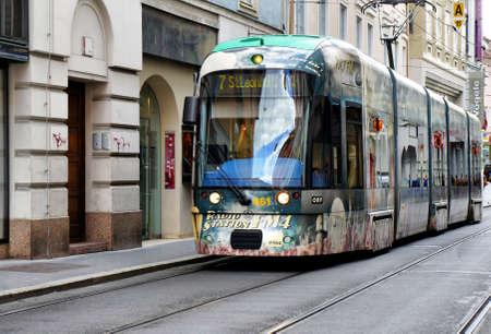 Train in Zagreb Croatia November 2014