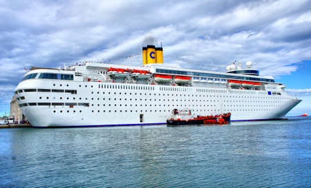Cruise Ship in Trieste Italy