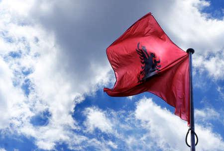 albanian: Albanian Flag Waving