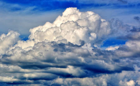 Beautiful White Clouds and Blue Sky in Cloudscape Stock Photo