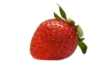 Strawberry Macro isolated on white background