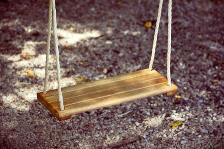 swing seat: Playground Wood Swing Seat on Park