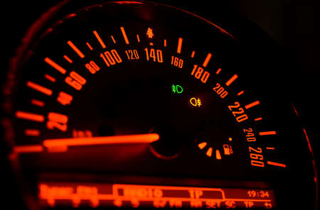 car race: Car Speedometer
