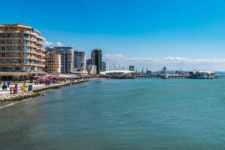 DURRES, ALBANIA - CIRCA MARCH 2017: City center Editorial