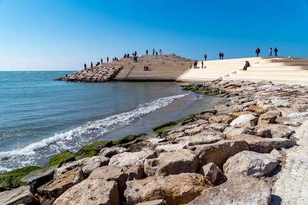 DURRES, ALBANIA - CIRCA MARCH 2017: Stones 写真素材