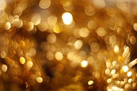The beautiful yellow twirled bokeh