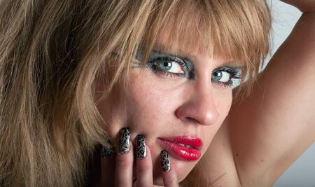 Beautiful woman s face photo