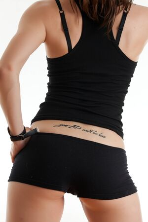 Back of the young woman with a tattoo Stock Photo - 17544527