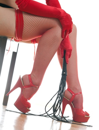female legs and whip