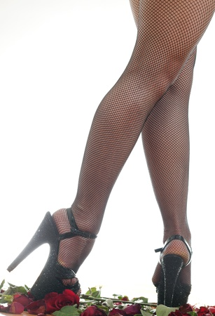 female legs in black shoes Stock Photo - 18442451