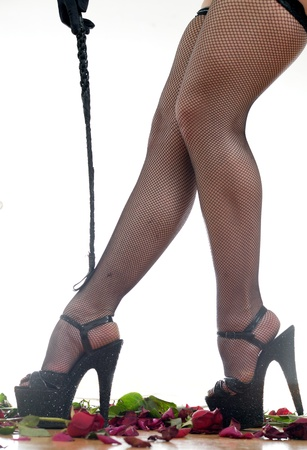 female legs and whip Stock Photo - 18442444