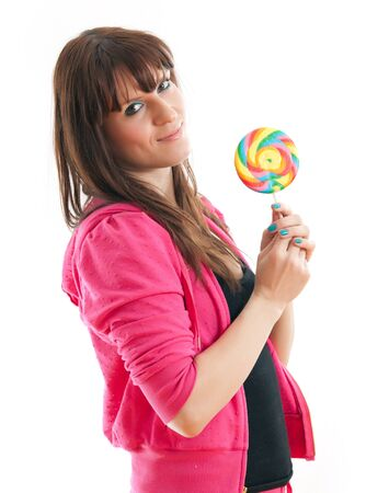 Woman with candy Stock Photo - 18734175