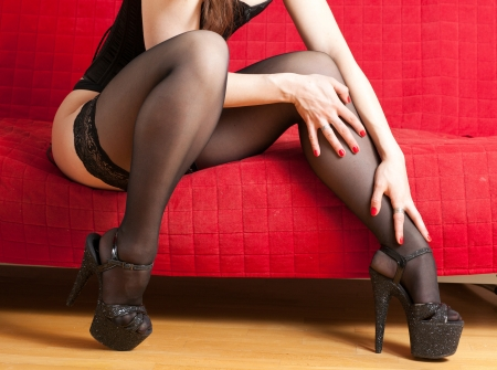 woman in stockings  photo