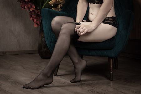 Beautiful legs in stockings