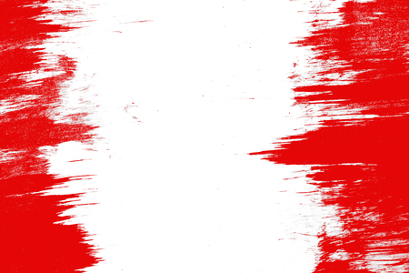 Smeared red paint on a white background