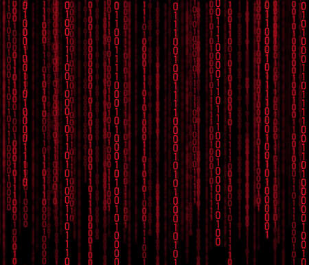beautiful background with binary code on black background