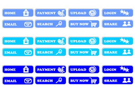 hint: Blue button for web design.
