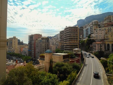 Road in the center of Monte Carlo