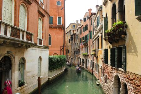 Gondola in Venice. Steet in Venice. Shipping in Venice.