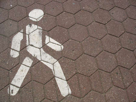 Pedestrian sign on a road Stock Photo - 7511005