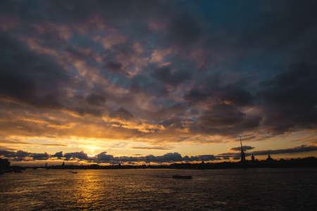 charmingly: Sunset on Neva river