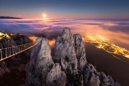 Ai-Petri. Night, Full Moon (Crimea) photo