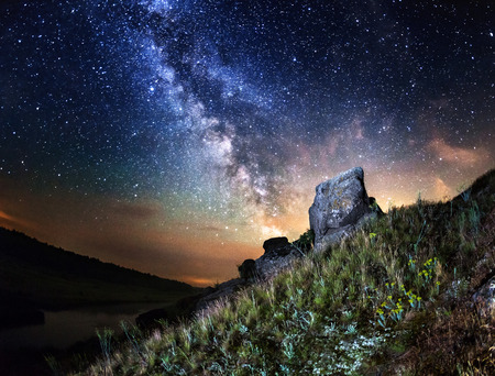 Milky Way (Ucraina) Archivio Fotografico - 36062428