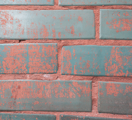 Background of colorful brick wall texture. brickwork photo