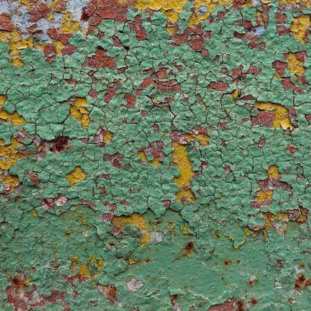 oxidized: abstracto corro�do colorido papel tapiz de fondo grunge hierro oxidado pared art�stica pintura descascarada. Superficie de metal oxidado. Textura abstracta