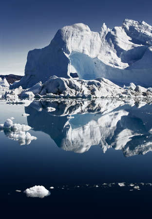 ices: Deep pure waters, ices and icebergs of Greenland Stock Photo