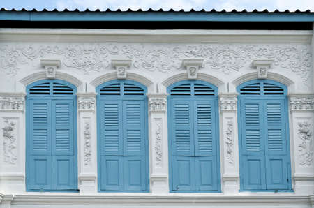 Sino-portuguese facades in Phuket Old Town, Thailand Banque d'images