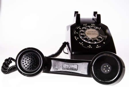 contrasted: old telephone