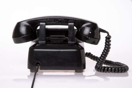 contrasted: old 50s phone