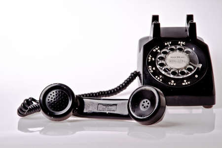 receiver: old fashion telephone Editorial