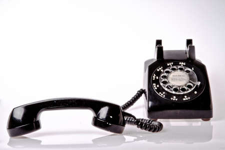 contrasted: old fashion telephone Editorial
