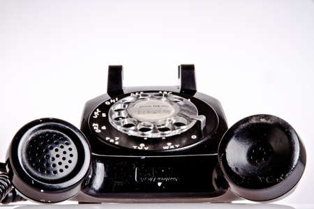 old fashion black phone Stock Photo - 12182366