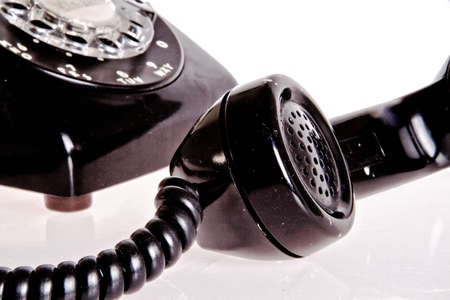 vintage foto: ouderwetse zwarte telefoon