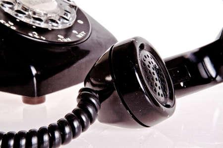 Vieux mode téléphone noir Banque d'images - 12182682