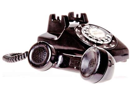 old fashion black phone