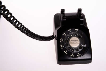 old fashion black and scratch 50s phone