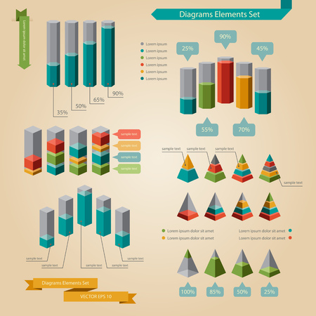 Set of Infographic diagrams element Vector