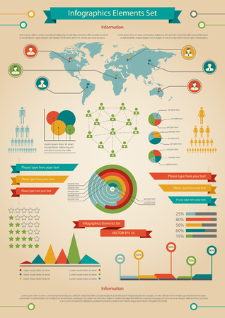 demographic: Vector illustration of infographic element and statistic about demographic.