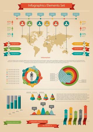 graphics: Vector illustration of infographic element and statistic about demographic.