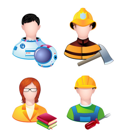 metalworker: Set of icons with people profession. Vector. Illustration